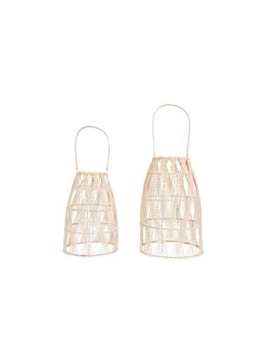 Warm Design Bambu 2' Li Set Mumluk & Fener Renkli